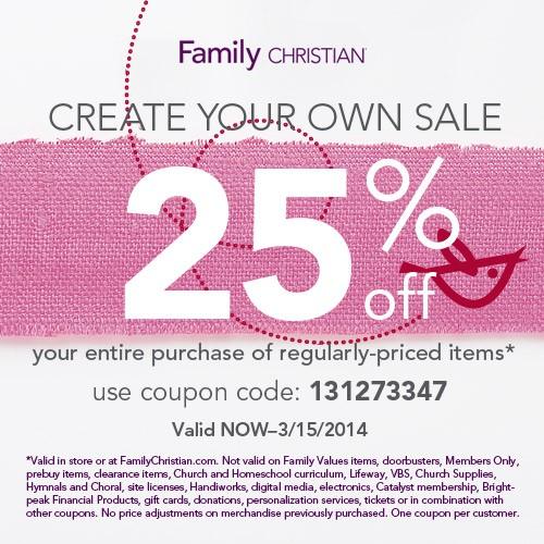family christian sale