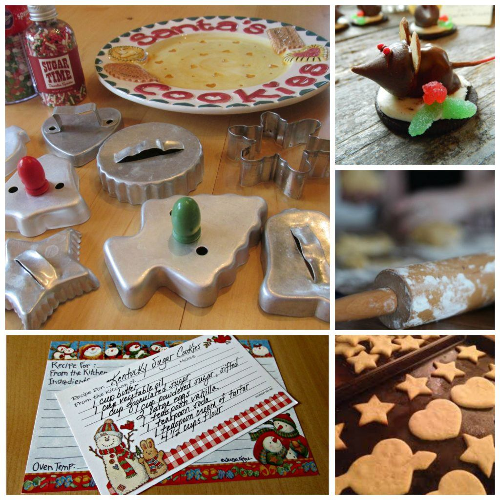 sugar cookie collage