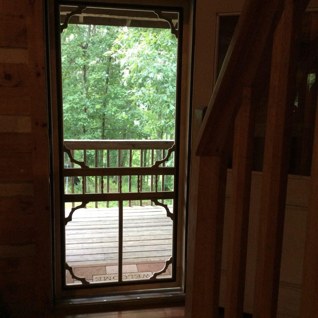 july cabin screen inside