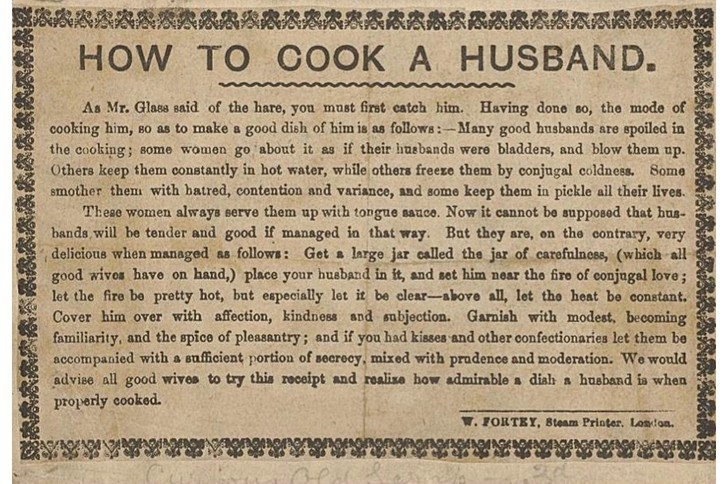 How to Cook a Husband ~ a wee bit of historical hilarity